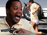 **PREMIUM RATES APPLY**  Cuba Gooding jr. brandishes a pistol in his underpants on the set of the upcoming drama 'American Crime Story: The People Vs OJ Simpson. The star, who plays O.J., was seen leaping out of a White Ford Bronco with a pistol, wearing only a yellow shirt, shoes, socks and underpants. \n\nPictured: Cuba Gooding Jr.\nRef: SPL1050849  100615   EXCLUSIVE\nPicture by: Splash News\n\nSplash News and Pictures\nLos Angeles:310-821-2666\nNew York:212-619-2666\nLondon:870-934-2666\nphotodesk@splashnews.com\n