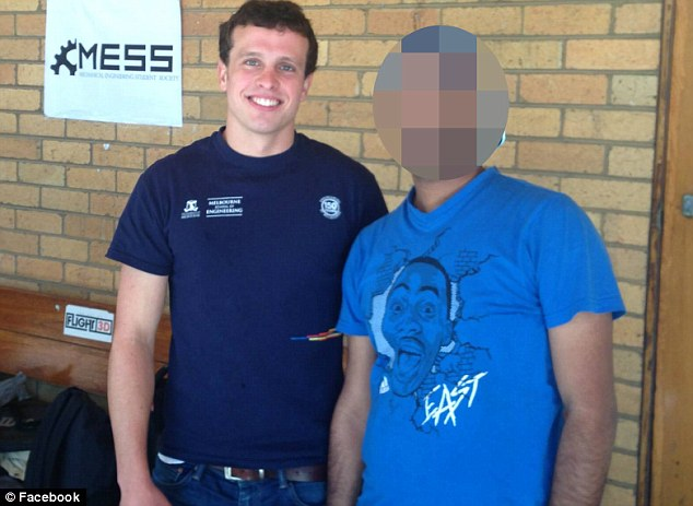 Popular: Rudi Van Breda was popular with his friends at Trinity College and the University of Melbourne