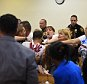 Image #: 37544212    Tempers flared and chaos erupted in court  after Gregory Eady was sentenced to 75 years in prison for a double murder and carjacking, prompting Sheriff's officers to separate one of the victim's family members from the killer. Eady pleaded guilty to the June 9, 2014, murders of Jamal Cooks, 22, and Shawn Spencer, 21 -- both of Jersey City -- who were shot multiple times while in a vehicle on Van Nostrand Avenue between Bergen Avenue and Martin Luther King Drive. Reena Rose Sibayan | The Jersey Journal      NJ Advance Media /Landov