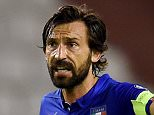 SPLIT, CROATIA - JUNE 12:  Andrea Pirlo of Italy reacts during the EURO 2016 Group H Qualifier between Croatia and Italy on June 12, 2015 in Split, Croatia.  (Photo by Claudio Villa/Getty Images)