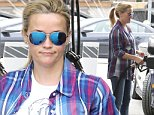 Picture Shows: Reese Witherspoon  June 13, 2015\n \n Actress and busy mom Reese Witherspoon stops by a gas station to fill up her SUV in Brentwood, California. Reese has been busy as of late, gearing up to star as Tinker Bell in a live action 'Tinker Bell' movie. \n \n Non Exclusive\n UK RIGHTS ONLY\n \n Pictures by : FameFlynet UK © 2015\n Tel : +44 (0)20 3551 5049\n Email : info@fameflynet.uk.com