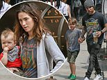 ***MANDATORY BYLINE TO READ INFPhoto.com ONLY***\nPete Wentz and wife Meagan Camper with kids Bronx & Saint Laszlo  are seen heading out to lunch in New York City.\n\nPictured: Pete Wentz, Bronx Wentz\nRef: SPL1052764  120615  \nPicture by: INFphoto.com\n\n