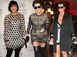 11.JUNE.2015 - PARIS - FRANCE\nA HAPPIER LOOKING KRIS JENNER ARRIVING AT COSTES HOTEL IN PARIS. KRIS SHOWING CLEAVAGE IN A SHORT BLACK AND WHITE DRESS\nBYLINE MUST READ : ABACA/XPOSUREPHOTOS.COM\n*AVAILABLE FOR UK ONLY*\n***UK CLIENTS - PICTURES CONTAINING CHILDREN PLEASE PIXELATE FACE PRIOR TO PUBLICATION ***\n**UK CLIENTS MUST CALL PRIOR TO TV OR ONLINE USAGE PLEASE TELEPHONE 0208 344 2007**