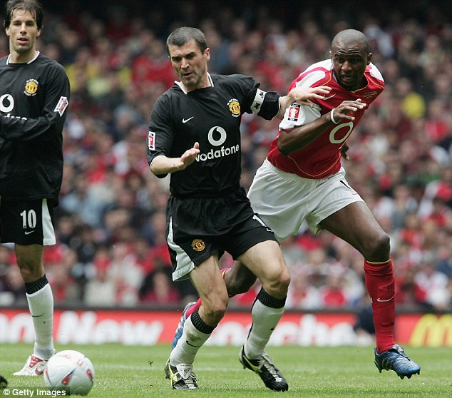 Throwbacks: The style being used across Europe is reminiscent of the likes of Roy Keane and Patrick Vieira