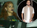 West Hollywood, CA - Rihanna and her entourage sneak out of 1 OAK Nightclub after a rendezvous with rumored boyfriend Karim Benzema. The French footballer was seen leaving through the clubís front door exit.\nAKM-GSI          June 11, 2015\nTo License These Photos, Please Contact :\nSteve Ginsburg\n(310) 505-8447\n(323) 423-9397\nsteve@akmgsi.com\nsales@akmgsi.com\nor\nMaria Buda\n(917) 242-1505\nmbuda@akmgsi.com\nginsburgspalyinc@gmail.com