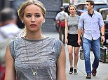 Jennifer Lawrence and bodyguard Greg Lenz take a walk in NYC.  Pictured: Jennifer Lawrence and Greg Lenz Ref: SPL1052128  110615   Picture by: XactpiX/splash  Splash News and Pictures Los Angeles: 310-821-2666 New York: 212-619-2666 London: 870-934-2666 photodesk@splashnews.com
