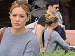 Beverly Hills, CA - Actress and singer Hilary Duff meets up with Luca and Mike Comrie for lunch at a local restaurant in Beverly Hills.\n \nAKM-GSI June 13, 2015\n \n To License These Photos, Please Contact :\n \n Steve Ginsburg\n (310) 505-8447\n (323) 423-9397\n steve@akmgsi.com\n sales@akmgsi.com\n \n or\n \n Maria Buda\n (917) 242-1505\n mbuda@akmgsi.com\n ginsburgspalyinc@gmail.com