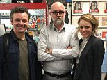 Daniel Clowes ?@danielclowes  Jun 6 @michaelsheen, Clowes, & Rachel McAdams @MeltdownComics last night. @fantagraphics