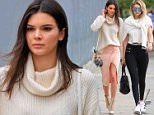 Kendall Jenner having lunch with Gigi Hadid at Canter's in Hollywood on saturday June 13, 2015 X17online.com