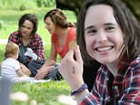 Actress Ellen Page puts a sock on her hand and makes a hand puppet filming 'Tallulah' with a toddler in Washington Square Park in New York City on June 12, 2015. Ellen affectionately hugs the baby girl. Ellen films with co-star Allison Janney.\n\nPictured: Ellen Page,Allison Janney\nRef: SPL1052491  120615  \nPicture by: Christopher Peterson/Splash News\n\nSplash News and Pictures\nLos Angeles: 310-821-2666\nNew York: 212-619-2666\nLondon: 870-934-2666\nphotodesk@splashnews.com\n