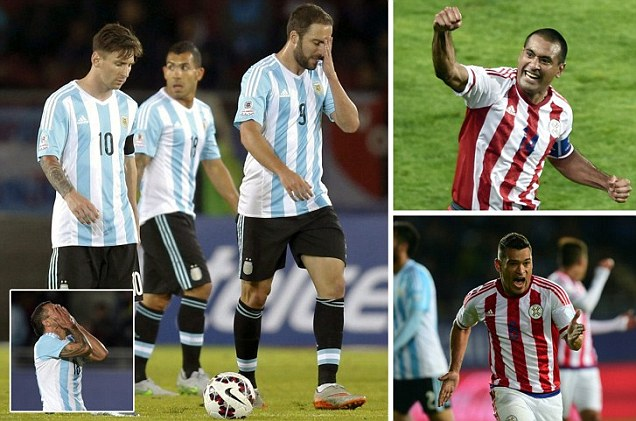 Argentina 2-2 Paraguay: Sergio Aguero and Lionel Messi's strikes cancelled out by Nelson