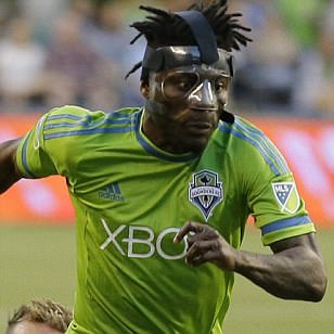 MLS round-up: Masked Obafemi Martins strikes in Seattle Sounders' second half blitz... and