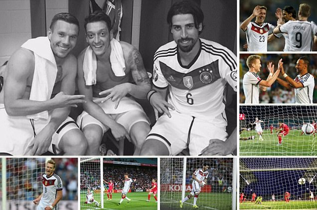 Gibraltar 0-7 Germany: World champions turn on the style to cruise to emphatic win