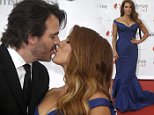 Australian and US actress Poppy Montgomery and her husband Shawn Sanford pose during the opening ceremony of the 2015 Monte Carlo Television Festival, Saturday, June 13, 2015, in Monaco. (AP Photo/Lionel Cironneau)