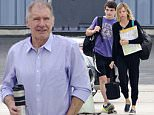 Picture Shows: Liam Flockhart, Calista Flockhart  June 13, 2015\n \n Actress Calista Flockhart and her son Liam catch a private jet to Iowa at the Santa Monica Airport in Santa Monica, California. Harrison Ford was there to see them off even though he did not go with his family. Harrison waved and took photos on his phone as the pair took off. \n \n Exclusive all round\n UK RIGHTS ONLY\n \n Pictures by : FameFlynet UK © 2015\n Tel : +44 (0)20 3551 5049\n Email : info@fameflynet.uk.com