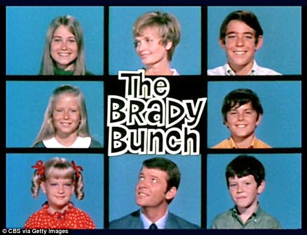 Coupling up: The 53-year-old (pictured bottom left corner) admitted that the Brady kids used to partner up with their on-screen siblings