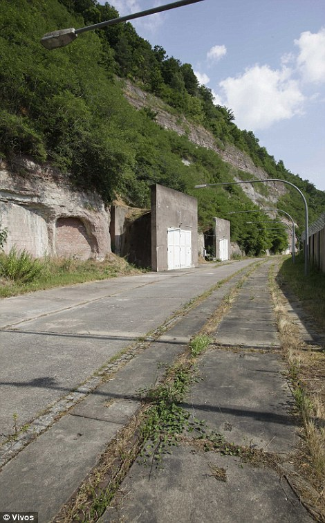 Exterior entrances to the bunker