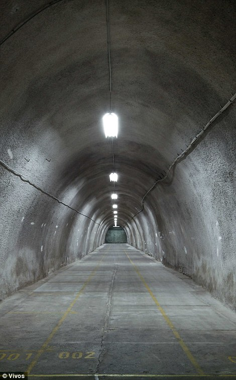 A typical tunnel inside the expensive facility