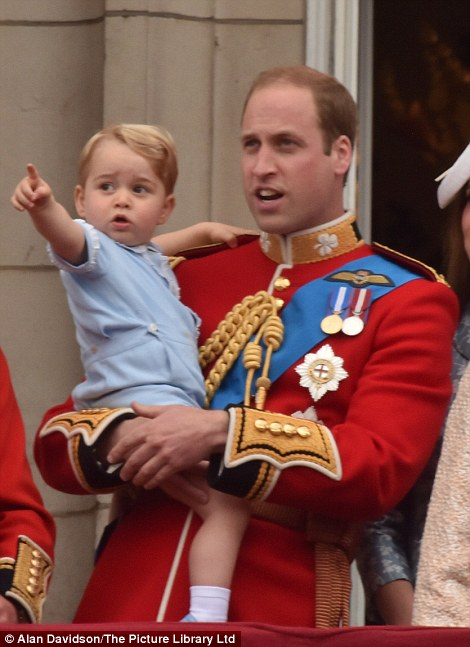 Prince George was last seen outside the Lindo Wing of St Mary's hospital with father Prince William as the pair visited Kate and newborn Princess Charlotte at the beginning of last month