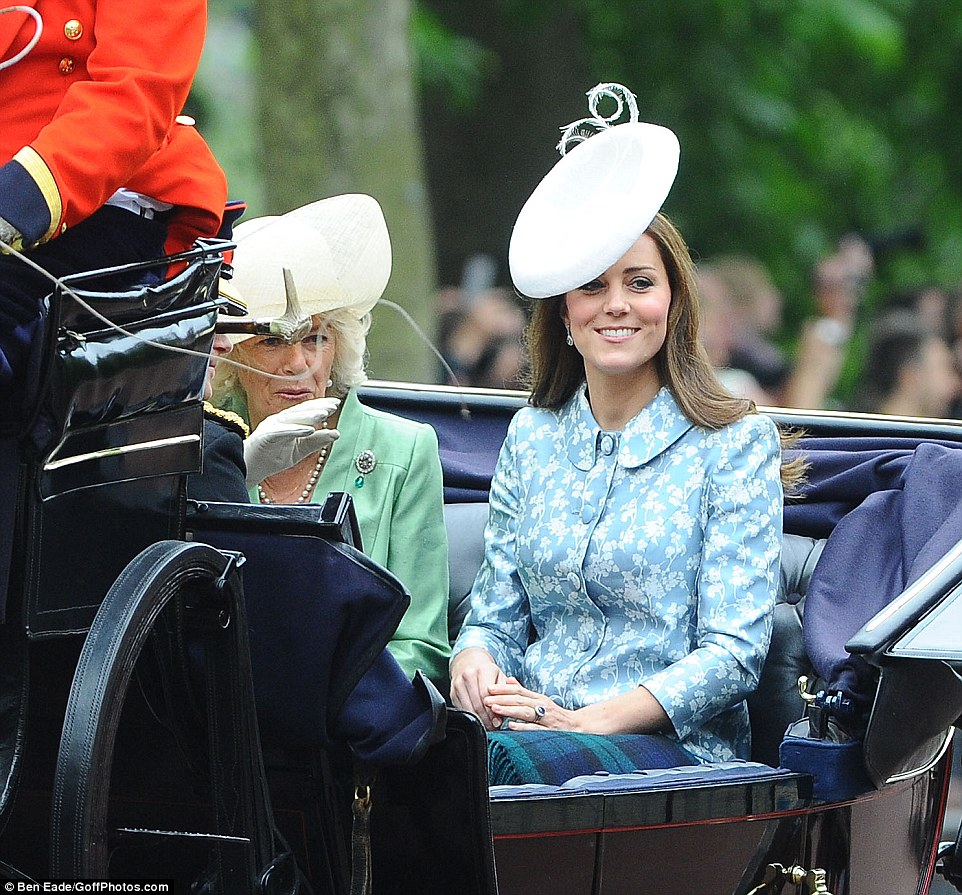 The Duchess of Cambridge's color choice brought out the blue in her sapphire engagement ring
