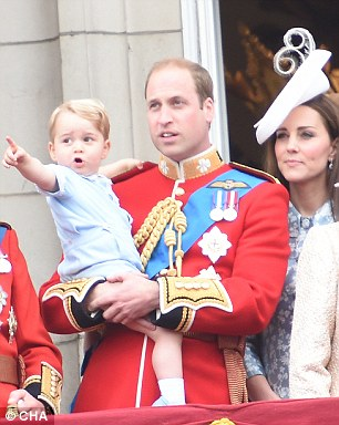 Prince George is growing into the same inquisitive little individual as his dad