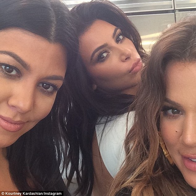 Sisters: Kourtney, Kim and Khloe have a growing fashion empire under their belts but Kourtney that one of the biggest fights she would have with Kim was over clothes when they were little