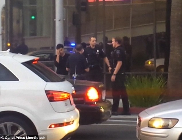 Not good: Several policemen were involved in the stop, which led to the actor's arrest and transportation to the hospital