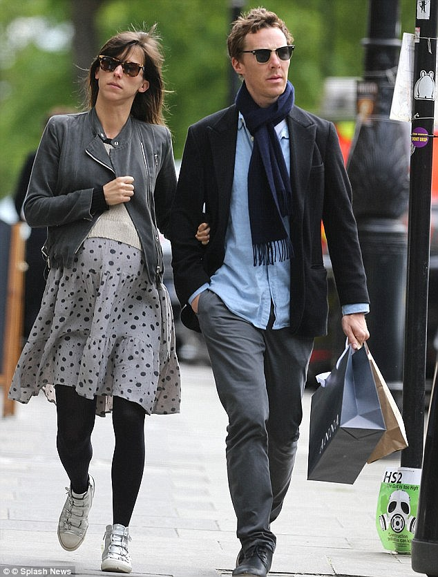 Out and about: Benedict and heavily pregnant Sophie were seen taking a stroll in May