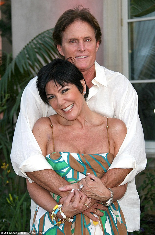 Nostalgic: The former couple's divorce was finalized on March 23 following a 23-year marriage and two daughters - Kendall, 19, and Kylie, 17 (pictured 2008)