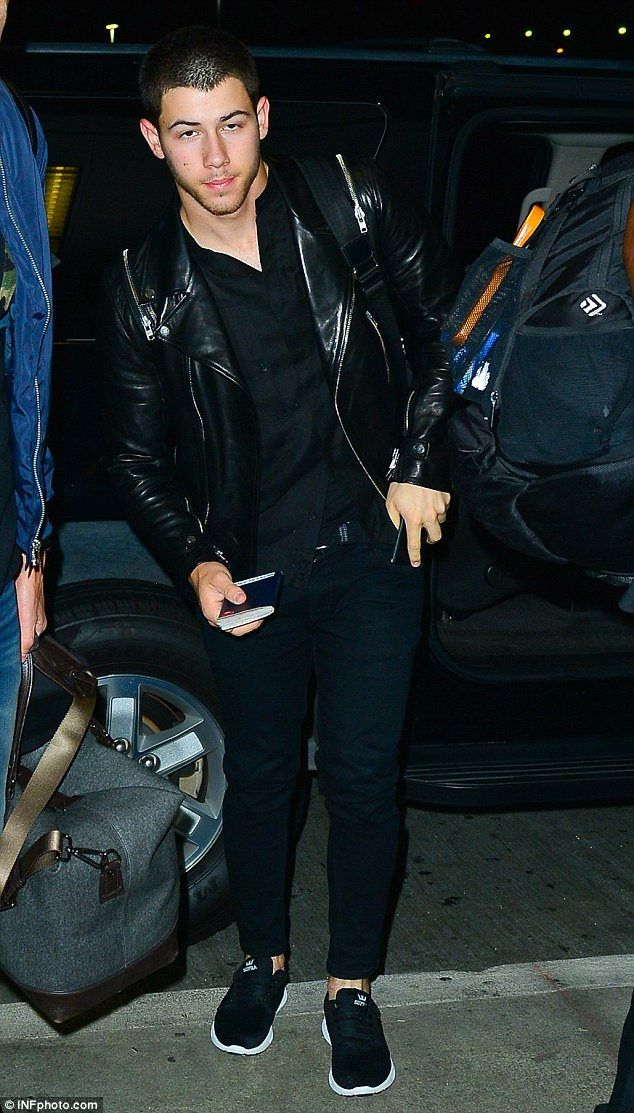 Jet lag? Nick Jonas looked sleepy as he arrived at LAX in the early hours of Saturday