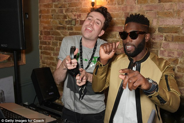 Singalong: The pair were clearly enjoying the music coming from DJ Nick's system and danced in front of guests