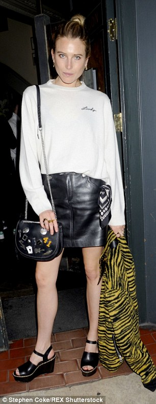 In good company: Models Robert Konjic and Dree Hemingway were also seen at the bash