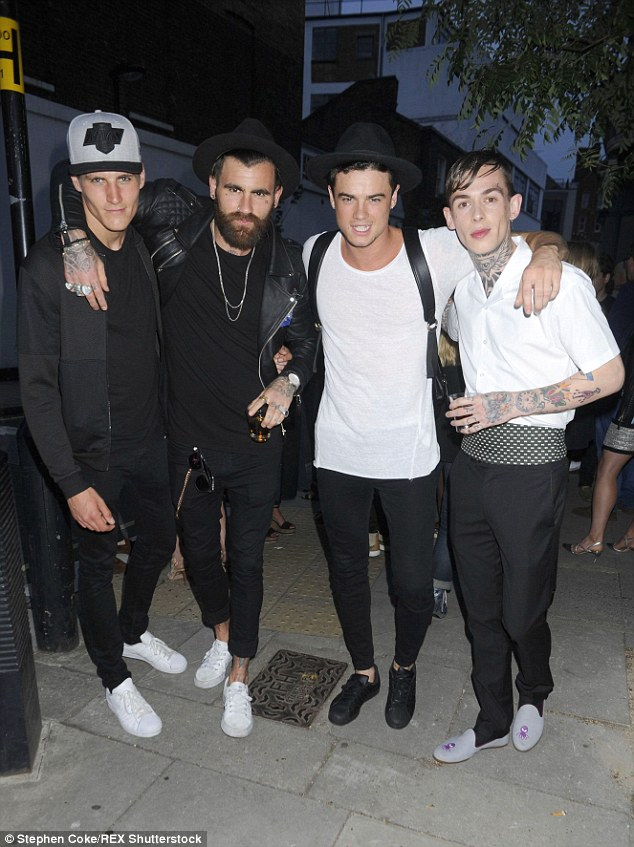 Here come the boys:Jack Padgett, Chris Perceval,Christian Arno and Alexander James all showed off their individual styles