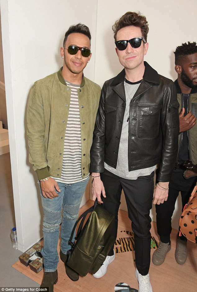 Brothers of style: His appearance marked the second day of London Collections Men, which began on Friday and sees the fashion industry's most stylish gentlemen flock to the capital