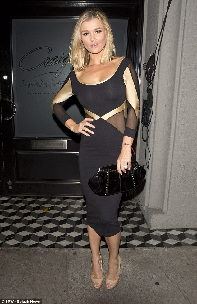Going for gold! Joanna Krupa looked stunning as she hit Craigs' Restaurant in West Hollywood on Friday to enjoy a girls' night out