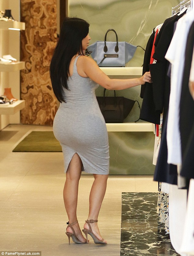 Shop til you drop! The E! princess browsed through a selection of high-end garments