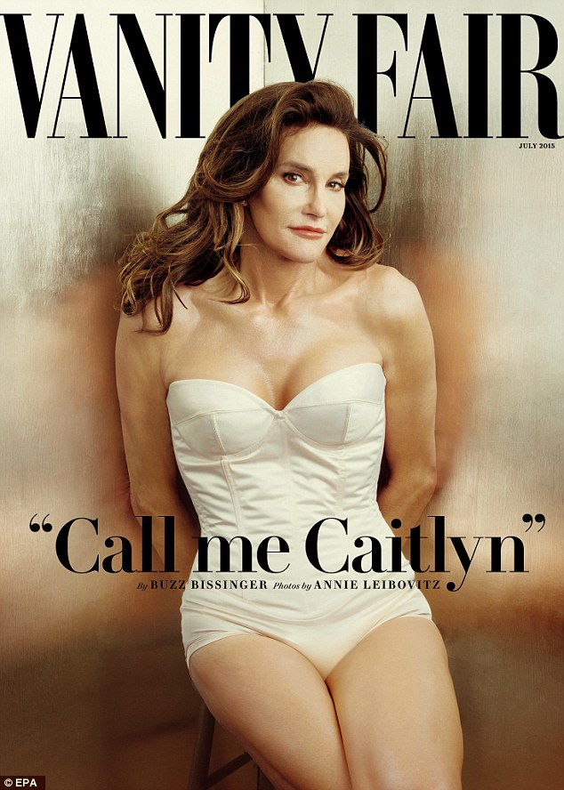Debut: The 65-year-old reality star posed in a white bustier for the cover earlier this month
