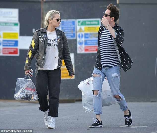Talk time: Rita Ora and pal Nick Grimshaw looked in deep conversation as they left a pub in London this week