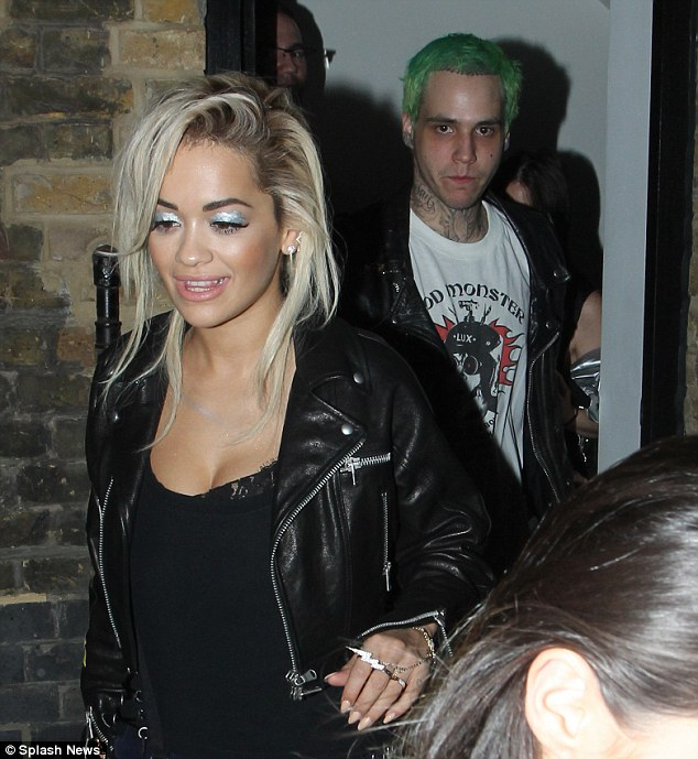 The Longer look: Rita had added some extensions to her short blonde locks