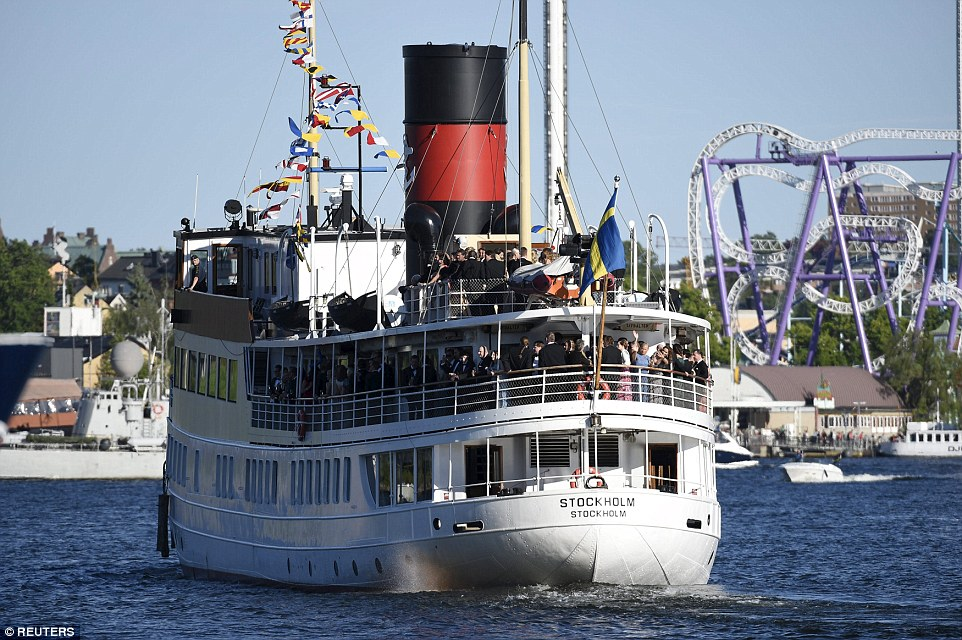 Party boat: The S/S Stockholm departs from Stockholm harbour with guests on board