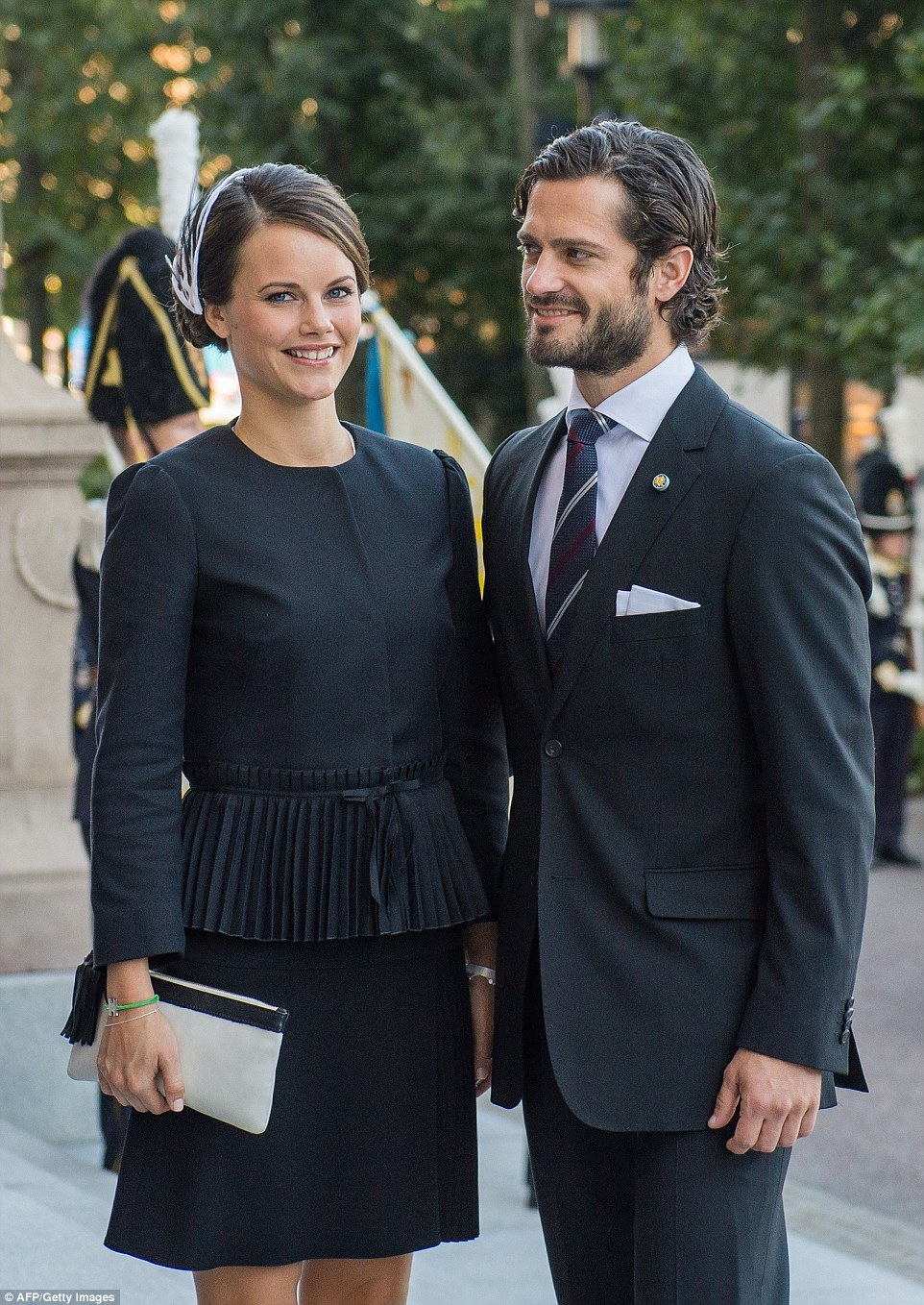 Official acceptance: Miss Hellqvist also attended the Swedish State Opening of Parliament last September