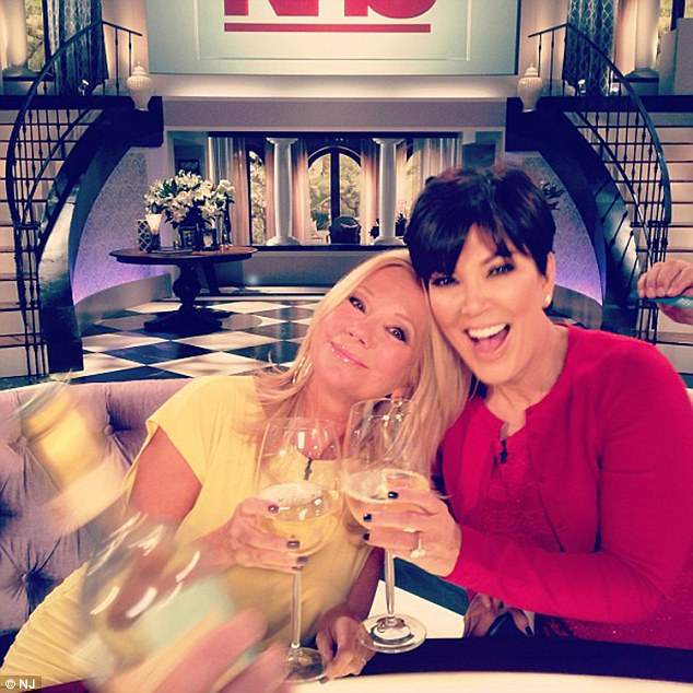 Cheers! Kris and the Today show co-host have been friends for a long time - Kathie is even the godmother to Kris's daughters Kendall and Kylie