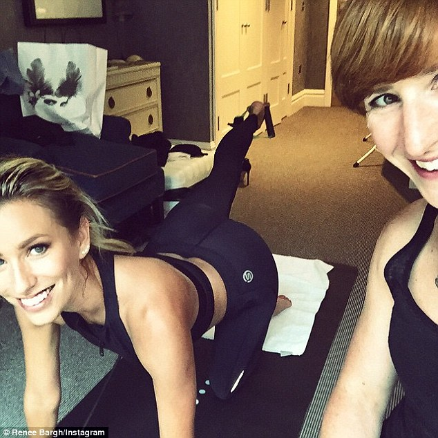 'Best way to beat jet lag': Australian-born TV personality Renee Bargh avoided jet lag in London with an intense Ballet Barre session in her hotel room with a private trainer