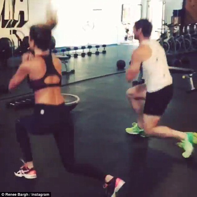 Sweating it out: The entertainment guru shared an insight into her workout routine just days before her evening appearnace