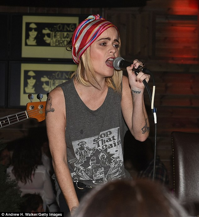 Warming her pipes: Orange Is the New Black's Taryn Manning sang at the Women's Prison Association benefit in Manhattan Friday