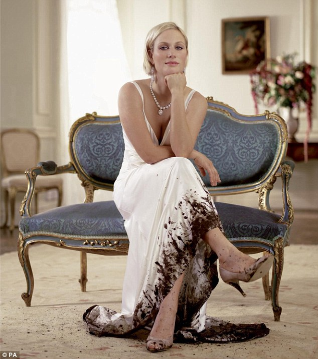 Dresseed for success: Zara Phillips in one of her many endorsement deals. This one is for Land Rover