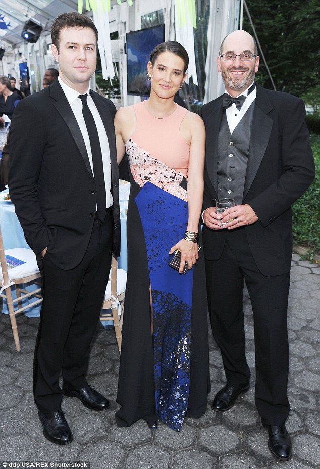 Date night: Cobiewas accompanied by Saturday Night Live star and husband Taran Killam at the event benefiting marine species off the east coast