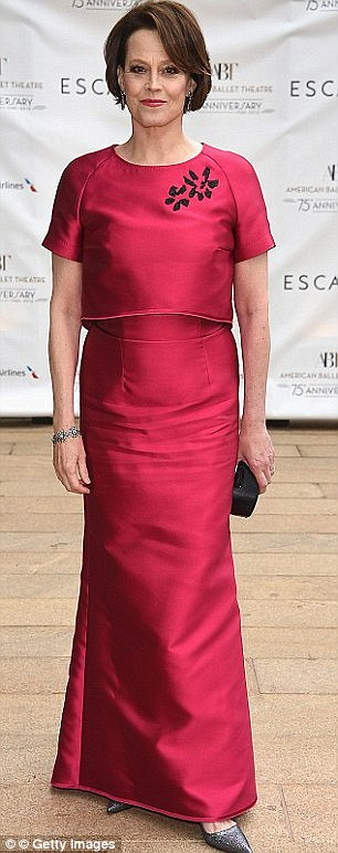 Recycled look: The 65-year-old actress wore the same red crop top and skirt look to the 75th Anniversary Diamond Jubilee on May 19