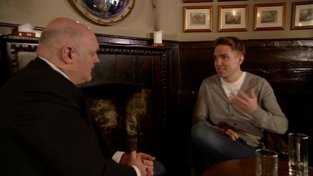 Discussing Stephen: Dara O'Briain interviewed Tim Hawking (right) for a documentary to be aired on BBC1 on Tuesday. It gives a fascinating glimpse into Hawking at home, at work and with his family
