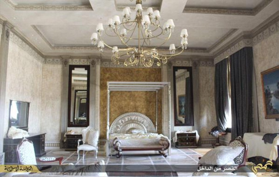 The luxury villa is lavishly decorated throughout, with marble floors and plush furnishings